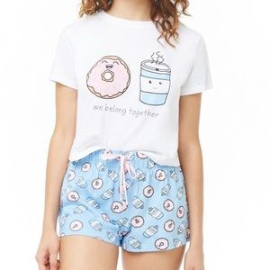 Other - NEW! Coffee ☕️ & Donut 🍩 Shorts & Crop PJ Set